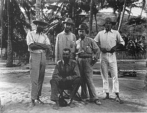 Sidney Herbert Ray - Members of the 1898 Torres Straits Expedition. Standing (from left to right): W. H. R. Rivers, Charles Gabriel Seligman, Sidney Herbert Ray, Anthony Wilkin. Seated: Alfred Cort Haddon