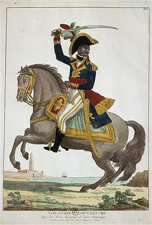 The Black Jacobins - Toussaint L'Ouverture, as depicted in a 19th-century print.