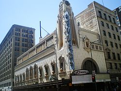 Exterior of Los Angeles' Tower Theater, 2008