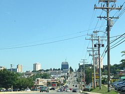 Towson skyline from the south on York Road