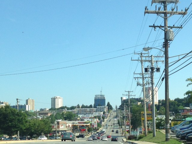 Towson skyline from the northwest on York Road