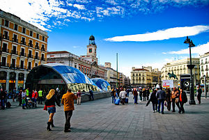 Puerta del Sol - Image: Tragabolas en la Puerta del Sol