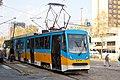 Tram in Sofia near Russian monument 052.jpg