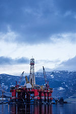 Transocean Leader for maintenance in Ølen, Norway () (16609378331).jpg