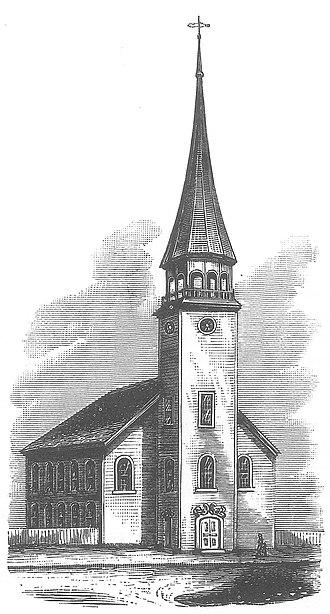 Trinity Church on the Green - First Wooden Trinity Church 1752-3
