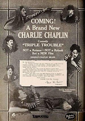 Triple Trouble (1918 film) - Advertisement for film