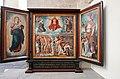 Triptychon Schule des Barthel Bruyn 16 Jh Stifter Canonikus Meinershagen.jpg