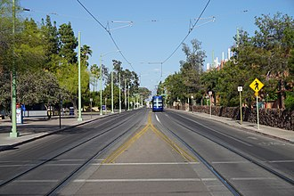 2nd Street with a Sun Link streetcar in the background Tucson May 2019 38 (2nd Street).jpg