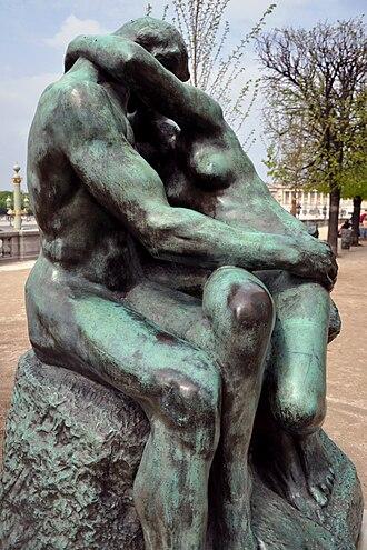 The Kiss (Rodin sculpture) - On the terrace of the Musée de l'Orangerie in the Tuileries Garden, Paris