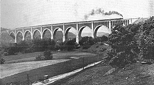 Tunkhannock Viaduct - Image: Tunkhannock viaduct (CJ Allen, Steel Highway, 1928)