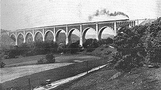 Tunkhannock Viaduct - Image: Tunkhannock viaduct (CJ Allen, Steel Highway, 1928)
