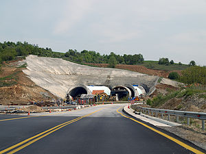 European route E79 - Construction of two-way tunnel on Route E79 in Greece (Completed)