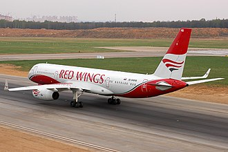 Red Wings Airlines - Red Wings Tupolev Tu-204 taking off