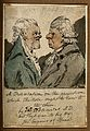 Two men, one with an exaggerated chin, the other with a larg Wellcome V0010941.jpg