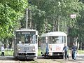 Two white trams in Izhevsk.jpg