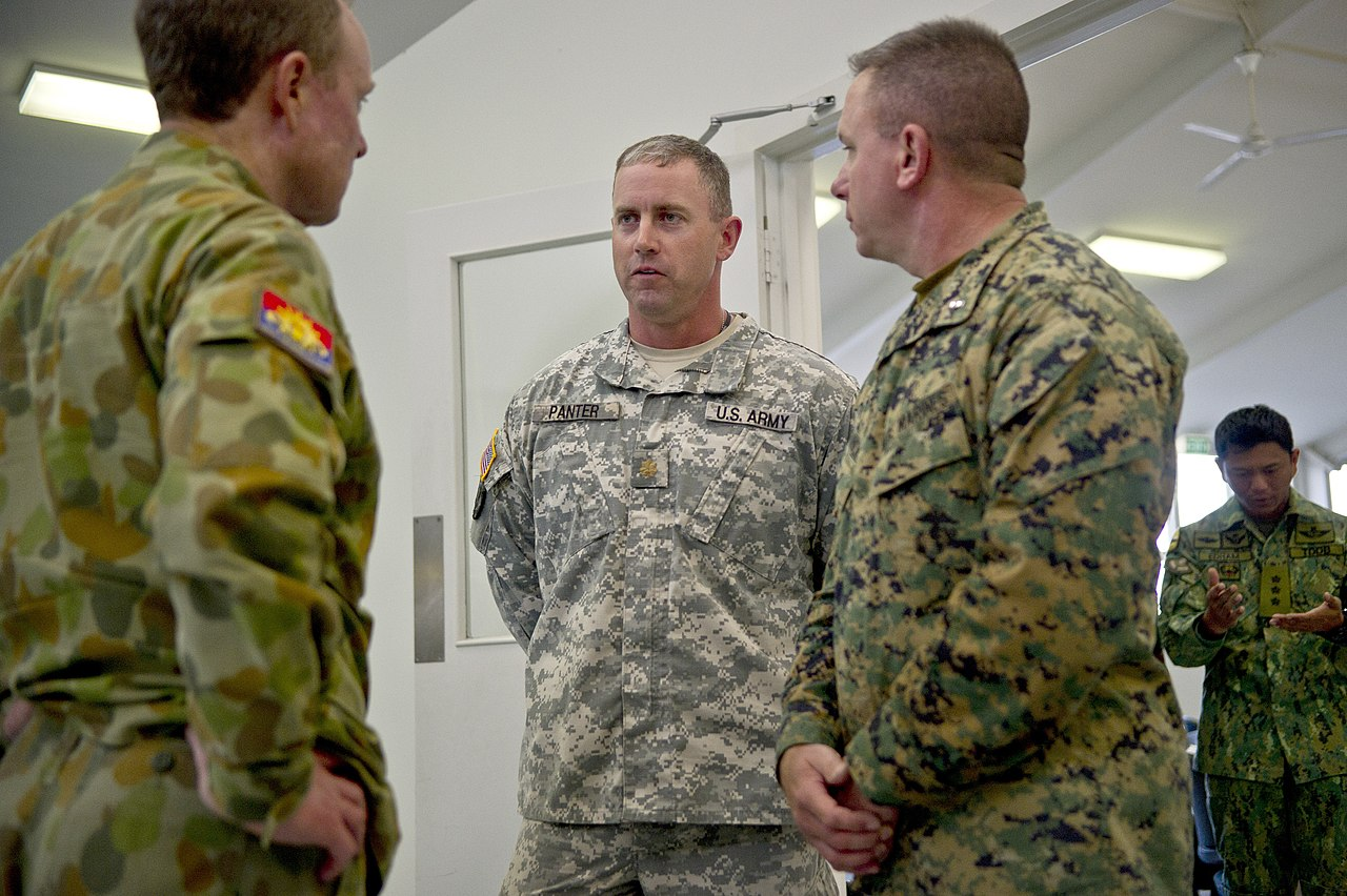 File:U.S. Army Maj. Brett Panter, center left, with the 2nd ...