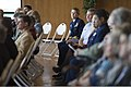 U.S. Coast Guard Rear Adm. Sandra L. Stosz, right row background, superintendent of the U.S. Coast Guard Academy (USCGA), listens to a speaker during the retirement ceremony for Rear Adm. Joseph Castillo 130405-G-VG516-359.jpg