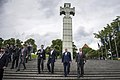 U.S. Defense Secretary Ash Carter, second from left, departs the War of Independence Victory Column with Estonian Defense Minister Sven Mikser, left, Lithuanian Defense Minister Juozas Olekas, second from right 150623-D-DT527-303c.jpg
