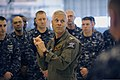 U.S. Navy Rear Adm. Matthew Klunder, center, the chief of naval research, meets with personnel assigned to Scientific Development Squadron (VXS) 1 of the U.S. Naval Research Laboratory Military Support Division 131106-N-PO203-128.jpg