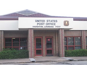 Haughton, Louisiana - The U.S. Post Office in Haughton