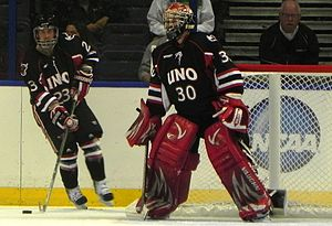 English: UNO Hockey vs. Michigan at the 2011 N...