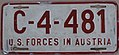 US-Forces-in-Austria USFA 1952 license plate C-4-481.jpg