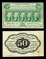 fifty-cent first-issue fractional note