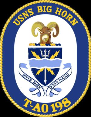 USNS Big Horn (T-AO-198) - Image: USNS Big Horn T AO 198 Crest