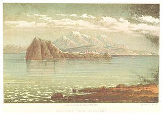 "Akdamar Island - ""Akthamar from Aghavank"" an engraving c. 1860"