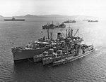 USS Cascade (AD-16) at anchor in the Mediterranean Sea on 12 September 1956 (USN 699217).jpg