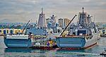 USS San Diego (LPD-22) - USS Anchorage (LPD-23) (25513390161).jpg