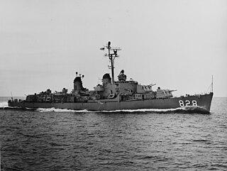USS <i>Timmerman</i> (DD-828) Gearing-class destroyer