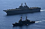USS Wasp and BRP Ramon Alcaraz at Balikatan 2019.jpg