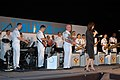 US Navy 040514-N-1194D-019 Sailors assigned to the Seventh Fleet Band's big band, Far East Edition, receive recognition from a Shimoda Black Ship Festival representative.jpg
