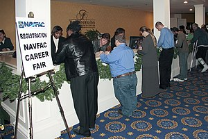NORFOLK (Nov. 17, 2008) Hopeful job seekers li...