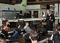 US Navy 090423-N-9824T-025 Rear Adm. Michael Franken, Deputy Director for Strategy, Plans and Policy U.S. Central Command, speaks to students at of the Aviation Technical Program.jpg
