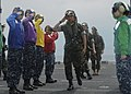 US Navy 100204-N-9418A-198 Gen. Jaggabatara SongKitti, Chief of the Defense Forces of the Royal Thai Armed Forces, walks through rainbow sideboys.jpg