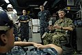 US Navy 100831-N-9818V-560 Master Chief Petty Officer of the Navy (MCPON) Rick West speaks with Sailors aboard the Ticonderoga-class guided-missile cruiser USS Shiloh (CG 67) during his visit to Fleet Activities Yokosuka.jpg