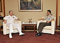 US Navy 100927-N-8273J-105 Chief of Naval Operations (CNO) Adm. Gary Roughead, left, meets with Chief of Defense Forces Lt. Gen. NEO Kian Hong whil.jpg