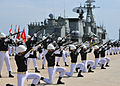 US Navy 110511-N-XR557-103 Royal Thai Navy drill team members perform during the opening ceremony for Cooperation Afloat Readiness and Training (CA.jpg
