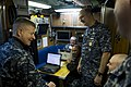 US Navy 120208-N-IV546-434 Master Chief Petty Officer of the Navy (MCPON) Rick D. West visits the chief's mess aboard the Los Angeles-class attack.jpg