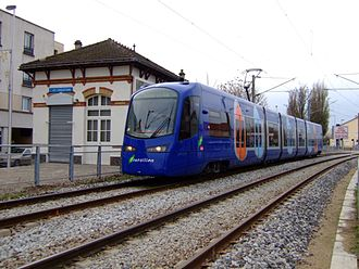 Siemens S70 - An Avanto tram-train car on Île-de-France's Tramway route T4