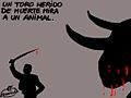 Un toro herido de muerte mira a un animal (4641643601).jpg