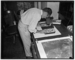 Uncle Sam spending $3,000,000 to make one map. Washington D.C. July 28. A huge photographic map which when completed will have cost $3,000,000, is being put together by the Agriculture LCCN2016872077.jpg
