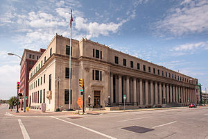 United States Post Office and Courthouse (Tulsa, Oklahoma) - Former United States Post Office and Courthouse, Tulsa, Oklahoma. Courtesy W. R. Oswald. September 23, 2012.