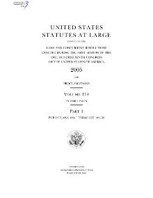 United States Statutes at Large Volume 119.djvu