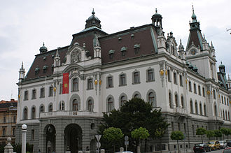 Carniola - The Carniolan Parliament building. In 1919 it became the main building of the University of Ljubljana.