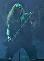 Unleashed, Johnny Hedlund at Party.San Metal Open Air 2013 04.jpg