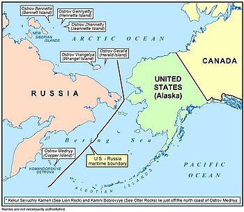 Map Of Russia And Alaska USSR–USA Maritime Boundary Agreement   Wikipedia