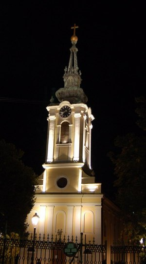 Church of the Assumption, Zrenjanin - Uspenska church at night